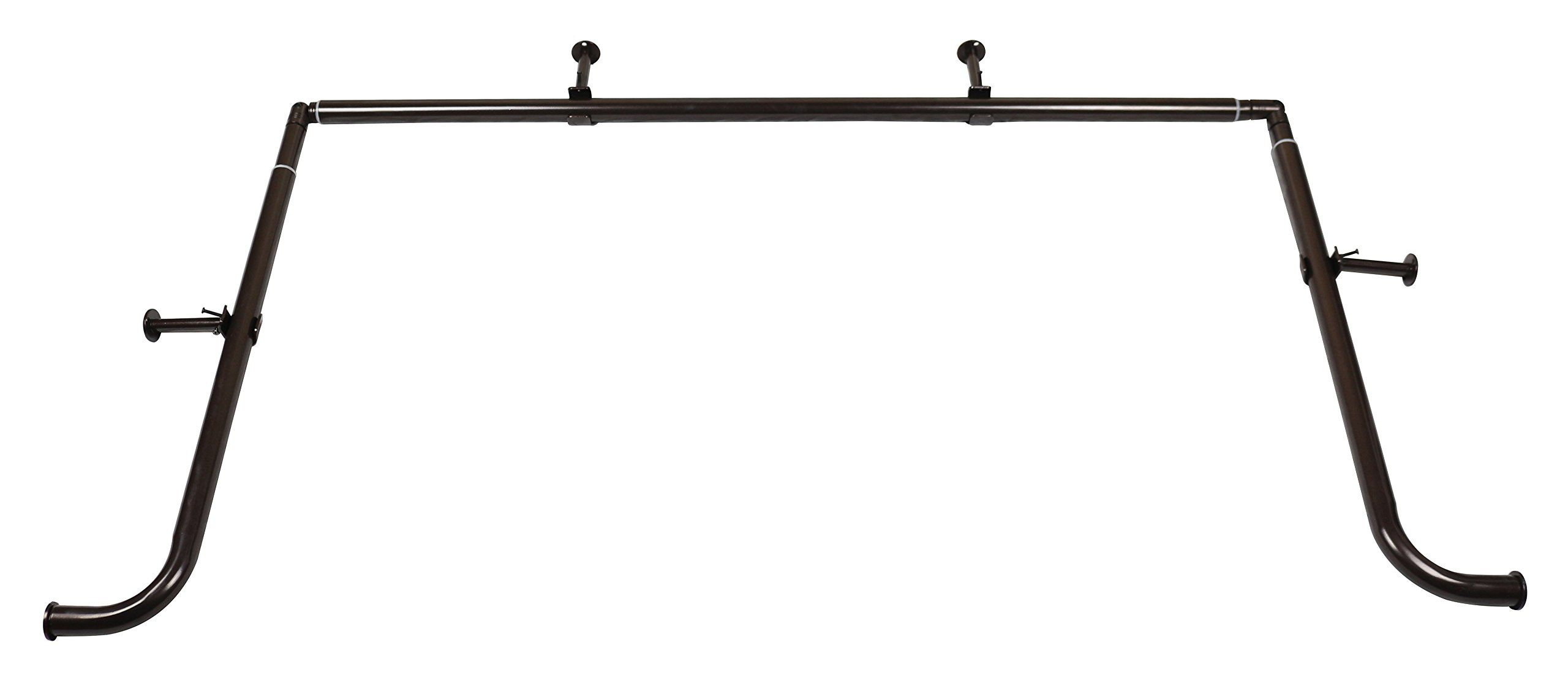 Meriville inch diameter bay window curtain rod set for bayview