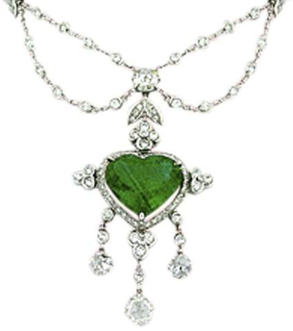Alexander Laut Three-Strand 18K White Gold Pink Topaz & Emerald Necklace with Diamonds 7cArmph7