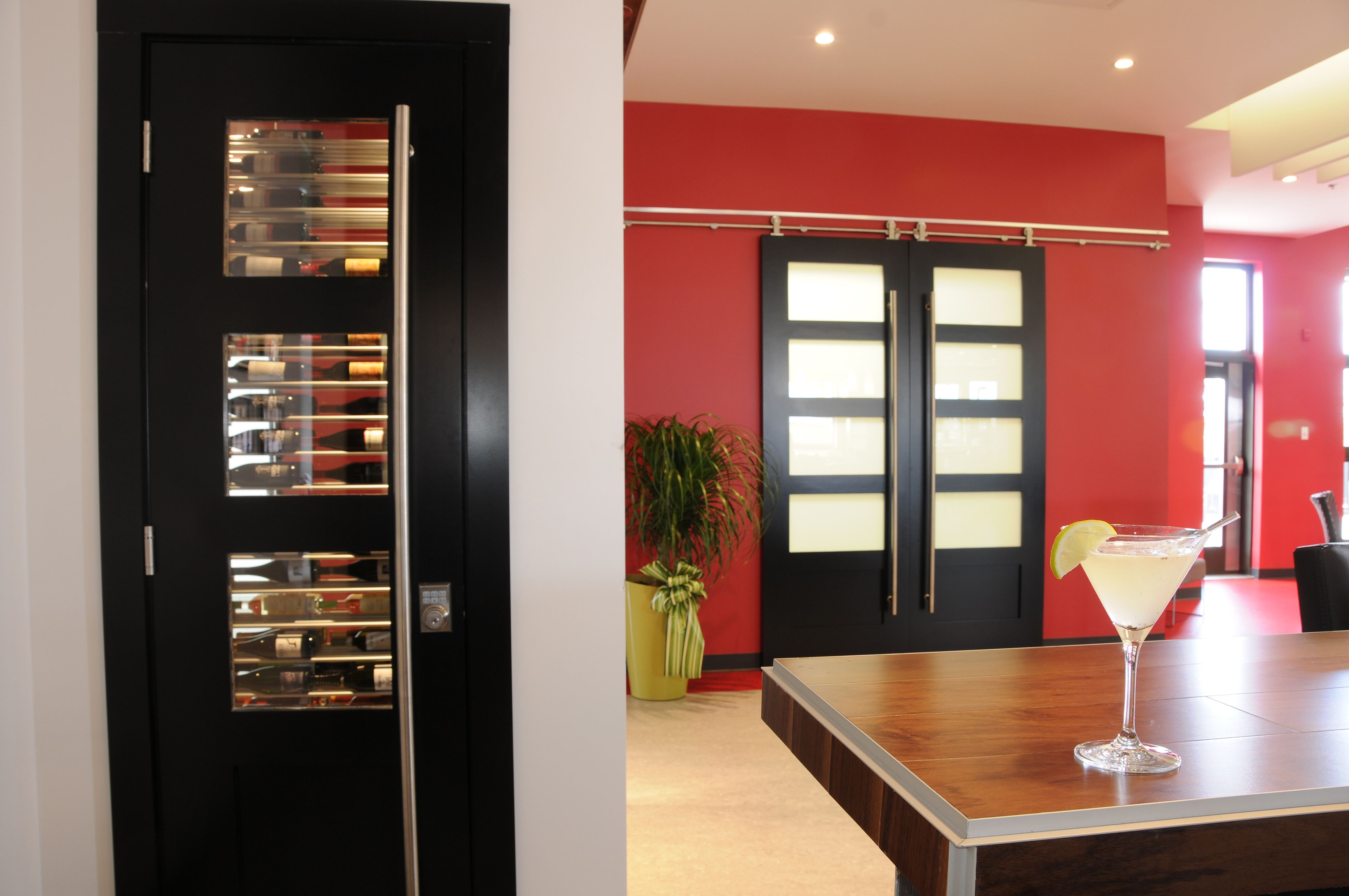 Custom Ordered Interior Shaker French Door With Bottom Panel Commercial Application With 1 3 4 Thickness Frenchdoor Wine Room Shaker Doors Beautiful Doors