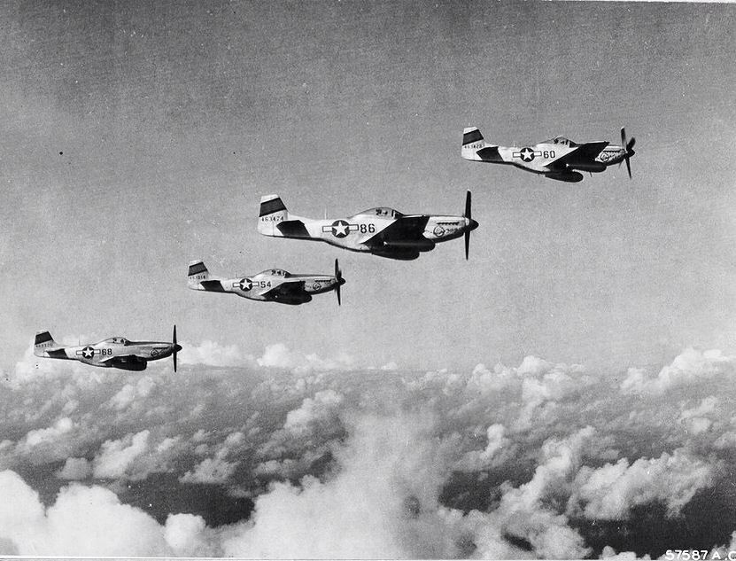P-51 Mustangs, 47th Pursuit Squadron, 15th Fighter Group, VII Fighter Command, 7th U.S. Air Force, Pacific Theater, WW II