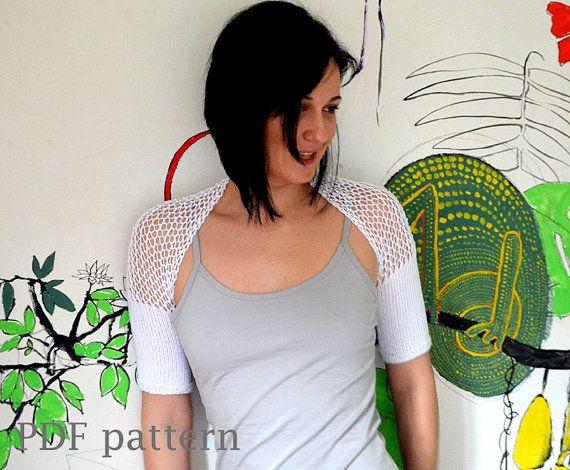 Shrug And Bolero Knitting Patterns Knit Shrug Lace Knitting And