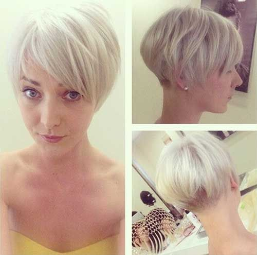 Cute Short Blonde Hair For Girls Jpg 500 497 Very Short Bob Hairstyles Short Bob Hairstyles Layered Bob Haircuts