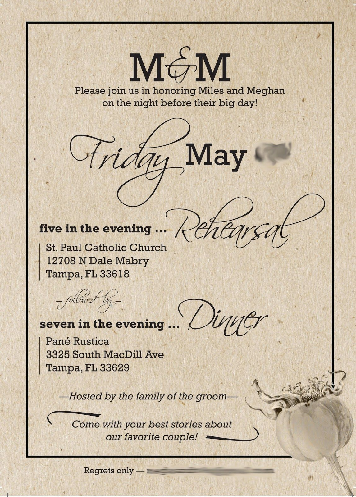 Planning The Rehearsal Dinner Was A Huge Headache For Us Rehearsal Dinner Invitations Wording Rehearsal Dinner Decorations Wedding Rehearsal Dinner Invitations