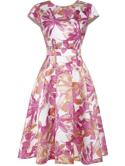 Vestido Floral Línea A Sheinside En 2019 Vestidos De Moda