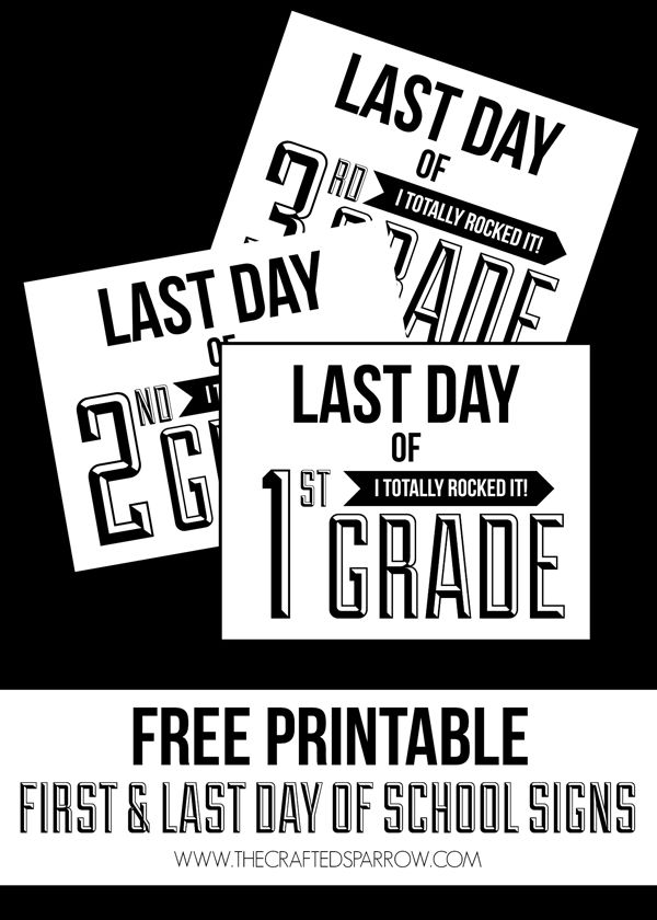 Free Printable Back to School Signs #firstdayofschoolsign