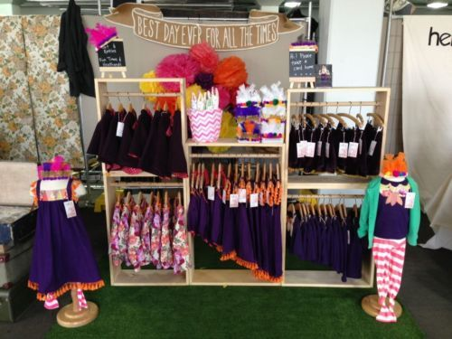 Wooden Clothing Display Racks For Market Stall Or Retail Shop