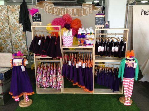 5e48e44c8 Wooden Clothing Display Racks FOR Market Stall OR Retail Shop Children'S  Wear | eBay