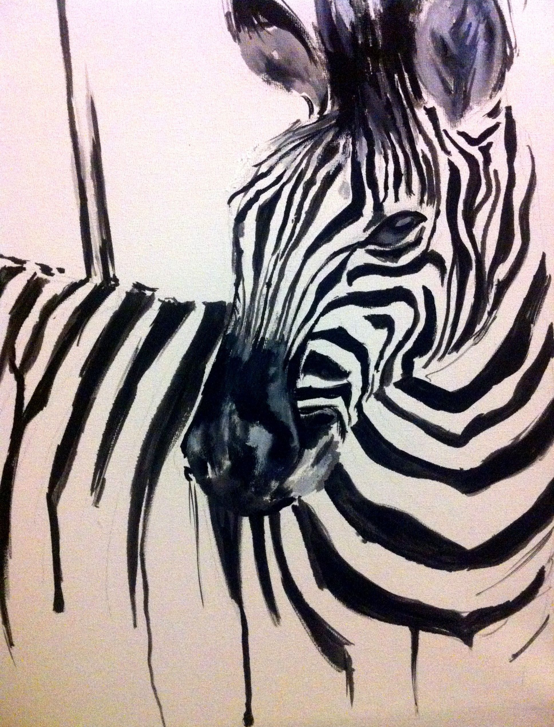 Zebra katy jade dobson art abstract zebra art pinterest zebra oil on canvas not completely sure where i am taking this just yet altavistaventures Images