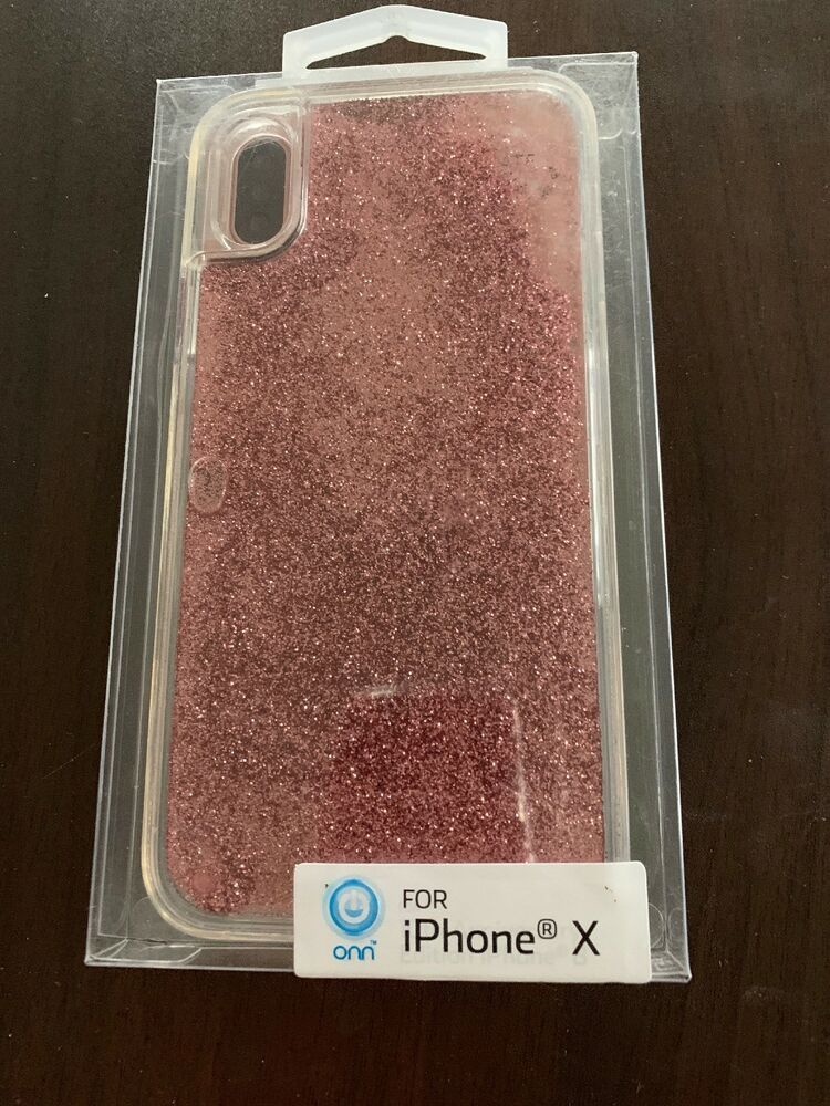 hot sale online 4b9ac 0a889 Onn iPhone X Phone Case PINK GLITTER MOVES!!! Original Packaging ...