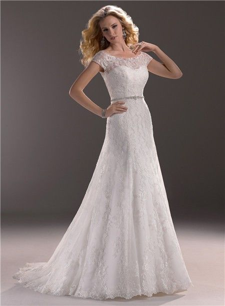 shortsleevelaceweddingdresses Line Sweetheart Lace Wedding