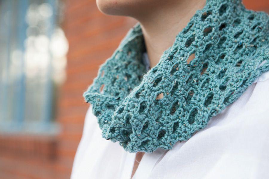 Swiss Tweed Crochet Cowl Pattern Crochet cowl pattern