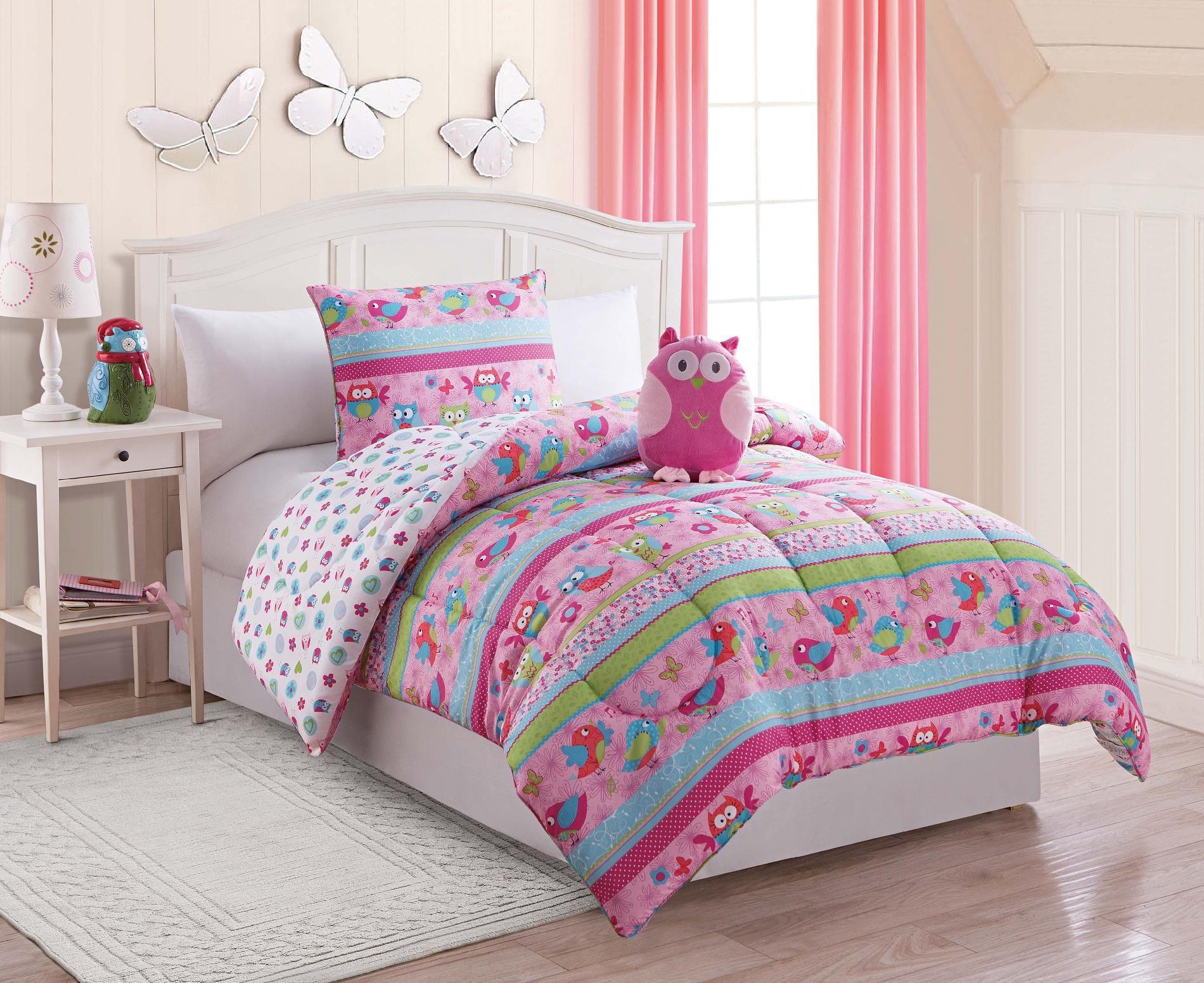 Owl bedding Comforter sets, Girl comforters, Girls