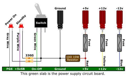 Atx To Lab Bench Power Supply Conversion: Pc Power Supply Wiring Diagram At Jornalmilenio.com