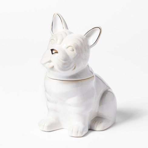 Cravings By Chrissy Teigen French Bulldog Cookie Jar White