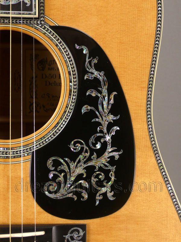 2006 Martin D 50 Koa Deluxe Figured Koa Premium Sitka 26 Of 50 Made Re Priced Custom Acoustic Guitars Guitar Inlay Pickguard