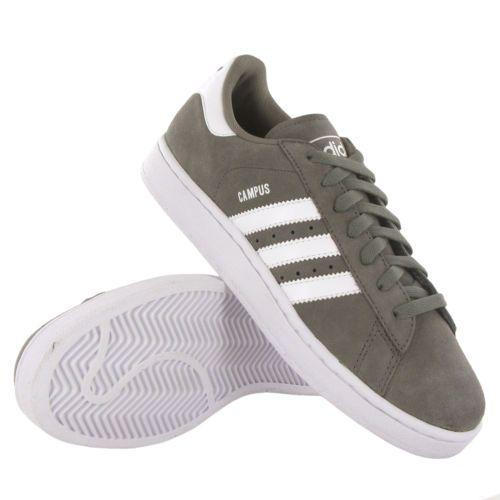 quality design cb224 eeaaf Adidas Campus II Gris Blanc Daim Homme Basket   eBay