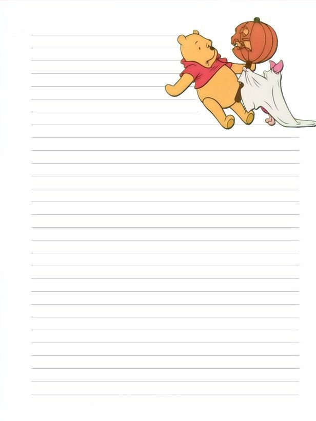 Halloween Stationary with Lines Halloween-Winnie-The-Pooh - printable lines paper