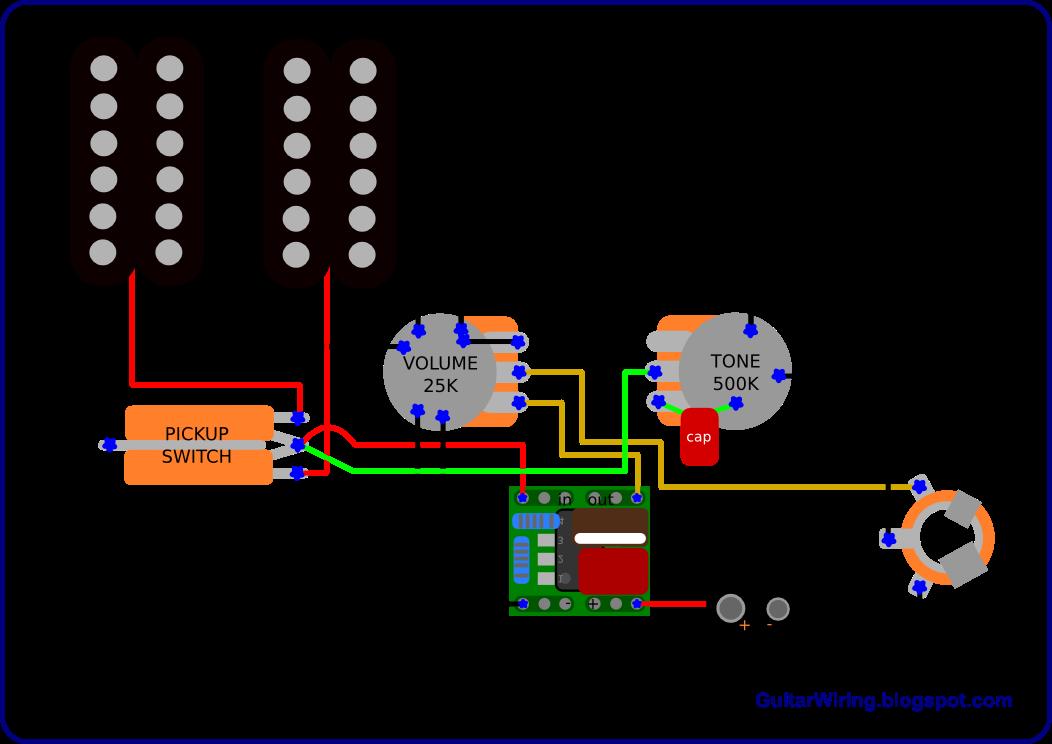the guitar wiring blog - diagrams and tips: semi-active guitar wiring -  simple and effective | guitar tech, guitar diy, luthier guitar  pinterest