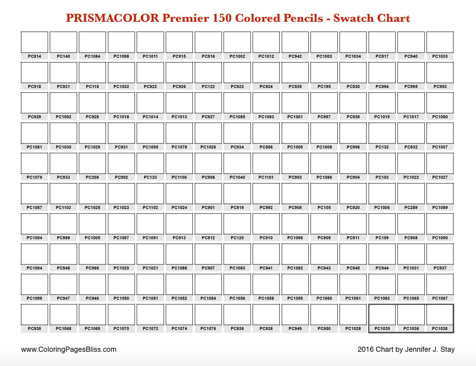 Prismacolor premier swatch chart also adult coloring pages in color pencil ideas pinterest rh