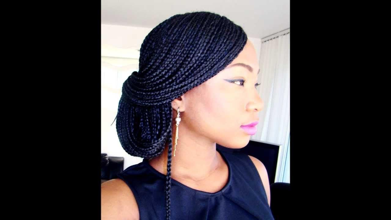 Box braids syles the classic up do tutorial youtube hair
