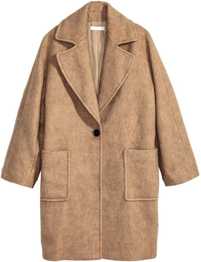 H&M - Wool-blend Coat - Beige - Ladies | Women Outerwear Coats ...