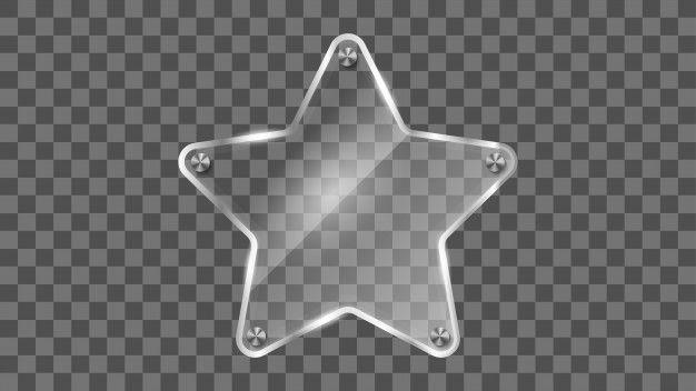 Star glass frame reflecting glass banne  Premium Vector