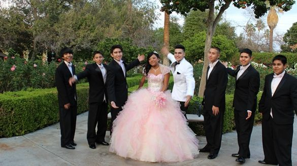 Destiny winner of the Chambelan of your dreams at her Parisian themed Quinceanera with Cheyo ...