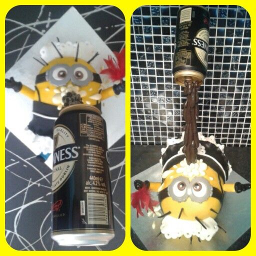 Minion french maid guiness gravity cake