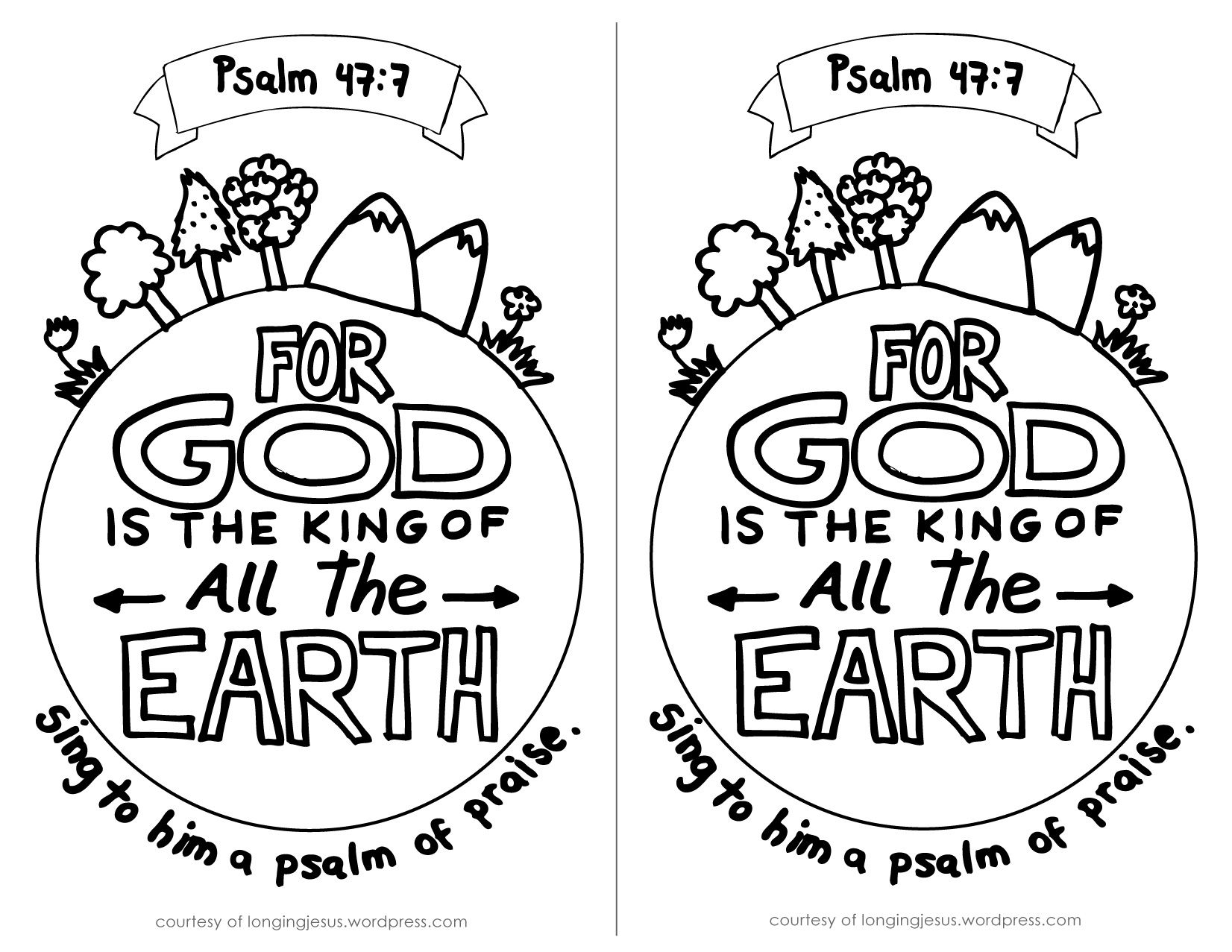 psalm-47-7-coloring-page-by-albtme.jpg (1652×1277) | Sunday School ...