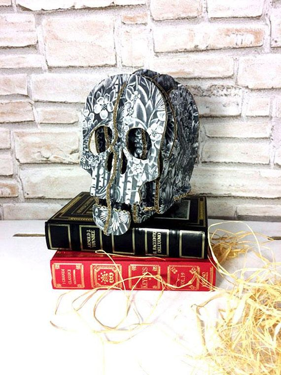 Photo of Boss gift, Employee Gifts, Office Art gift, Black skull gothic decor furniture, office desk accessories skull iphone holder, Secretary Gift