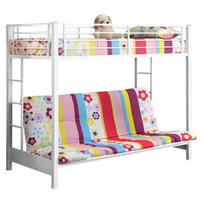 Kids Twin Over Futon Bunk Bed Metal