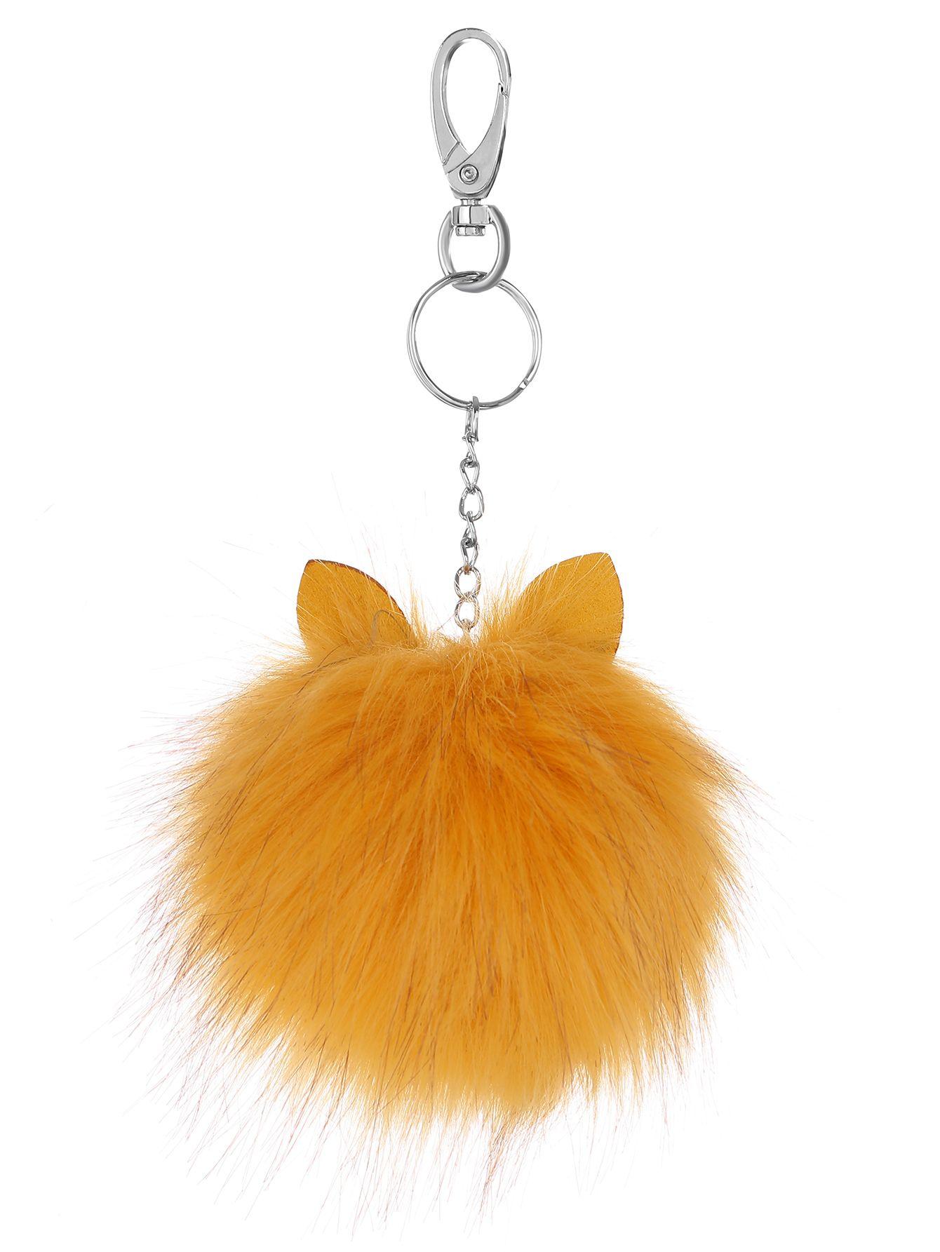 AdoreWe  SheIn Keychains - SheIn Yellow Pom Pom with Ear Keychain -  AdoreWe. 421b9fd948