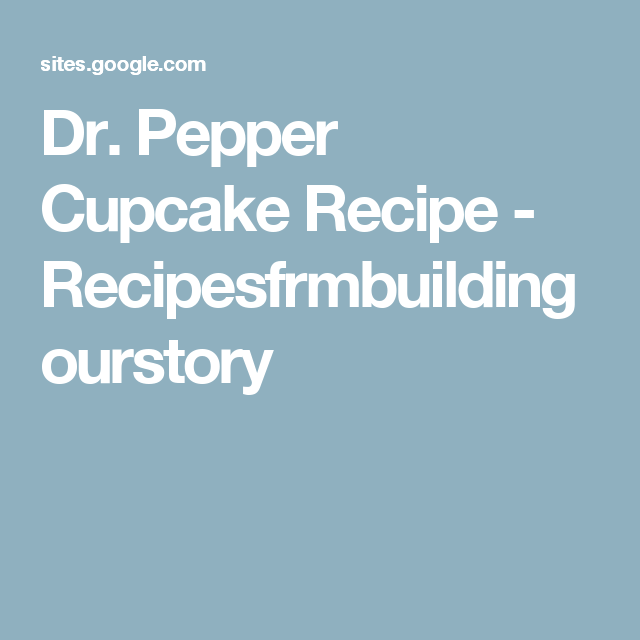 Recipesfrmbuildingourstory