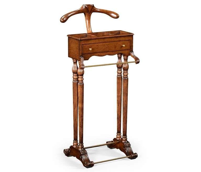 regency walnut valet stand 1stdibs