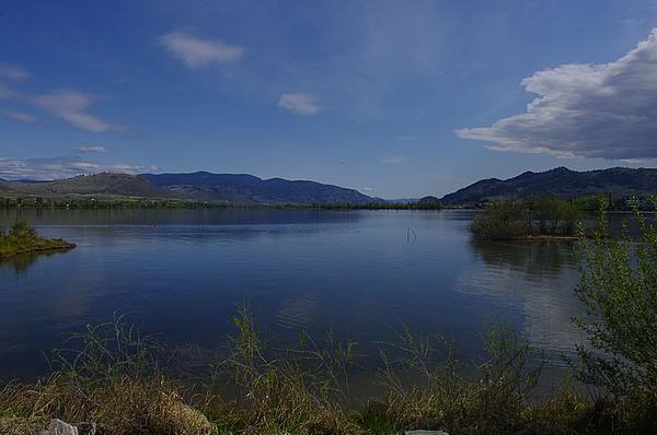 Looking south down Osoyoos lake to Washington State.