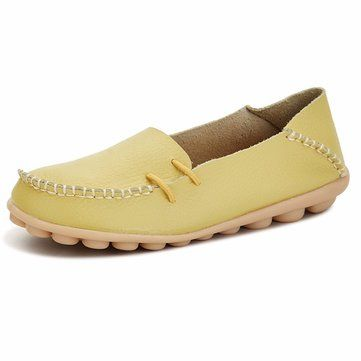 Hot-sale Suede Pure Color Slip On Stitching Flat Soft Shoes For Women -  NewChic 1a9ba96b65b