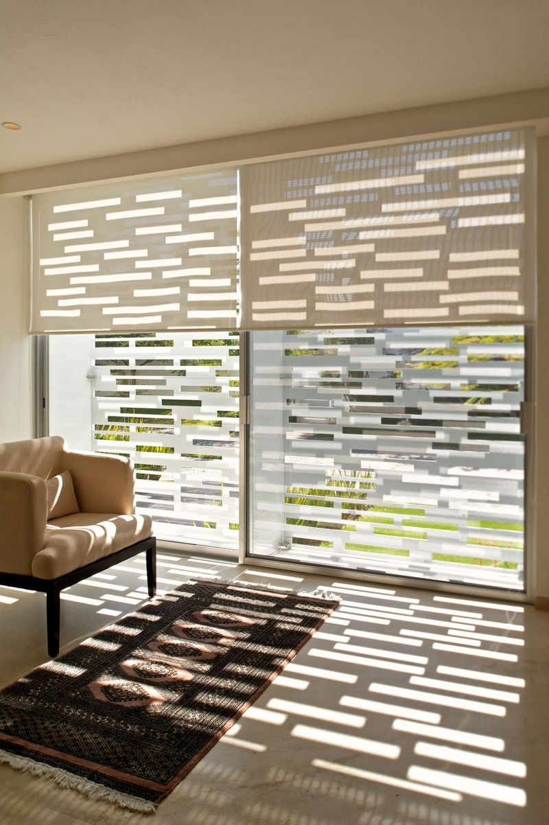 White Floor Shade Window Blind Design Modern House Design