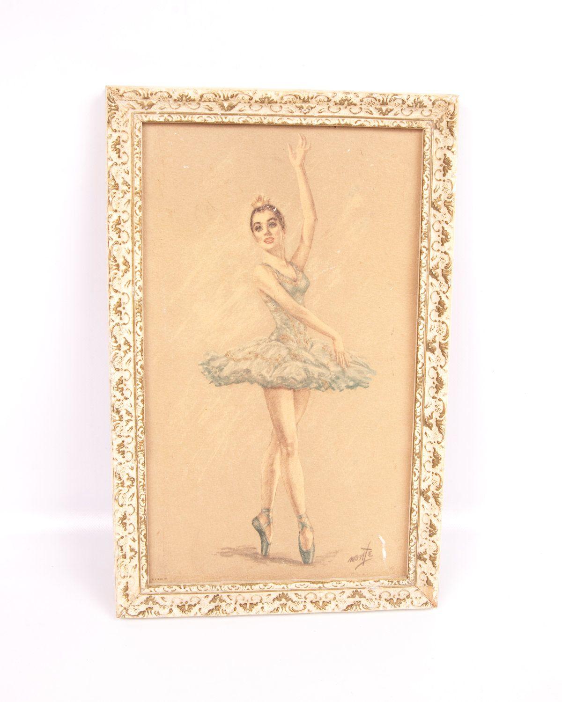 Vintage Ballerina Print Juliet By Monte Framed New York
