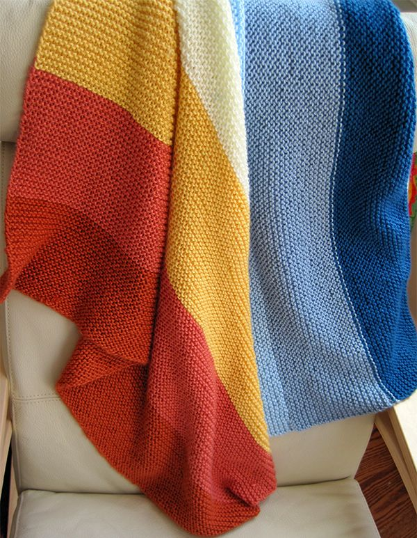 Easy Knit Baby Blanket Knitting Pinterest Easy Knit Baby