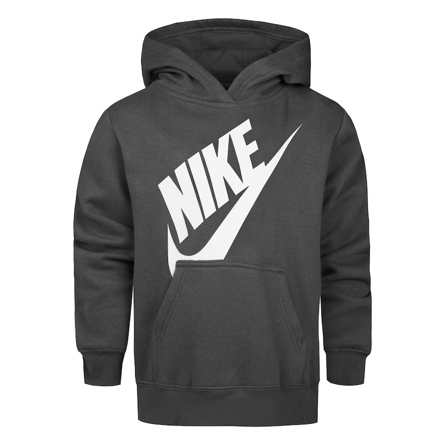 Futura Fleece Pullover Hoodie In Grey
