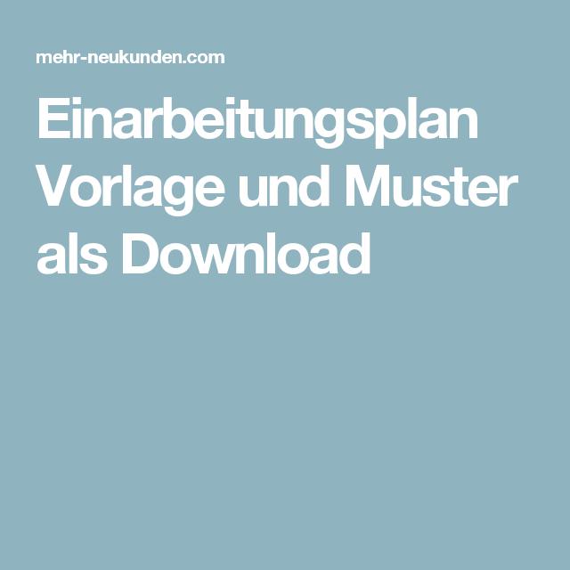 Einarbeitungsplan Vorlage Und Muster Als Download Einarbeitungsplan Vorlagen Planer