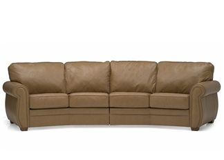 Austin - Palliser Leather Curved Sofa | Town and Country Leather ...