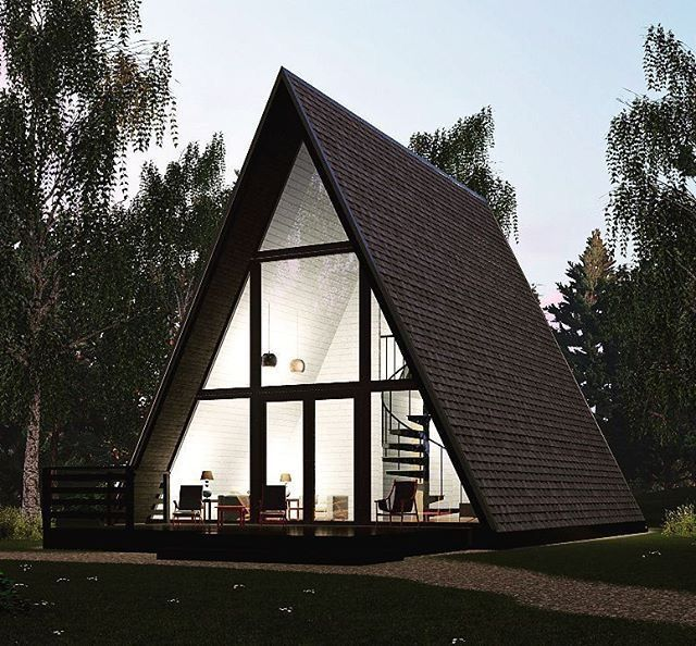 Pin By Jacqueline Probst On A Frame House Triangle House A Frame House A Frame Cabin