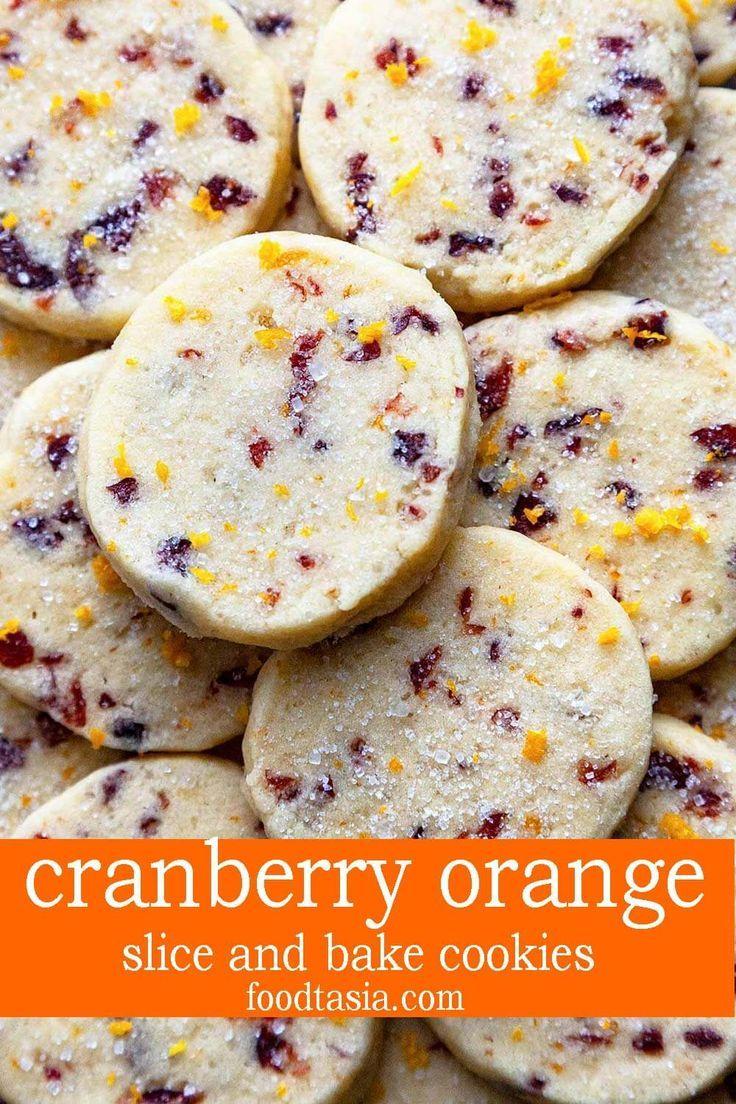 Slice and Bake Cranberry Orange Cookies | Foodtasia