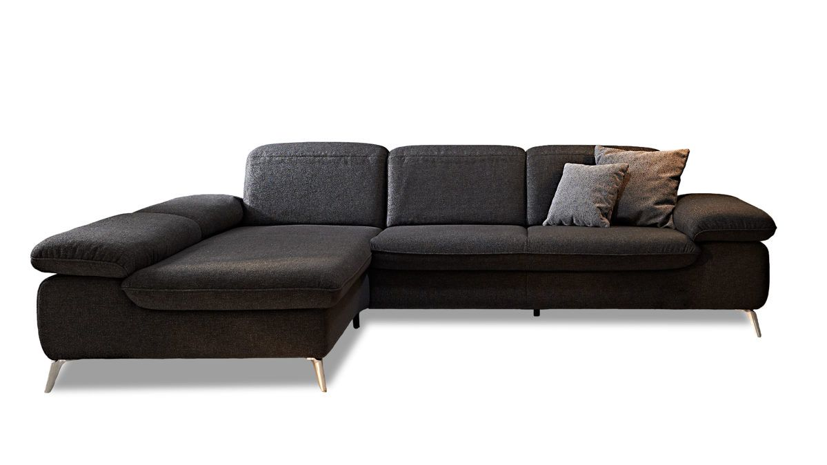 m bel a z couches sofas ecksofa k w polsterm bel aus stoff in anthrazit. Black Bedroom Furniture Sets. Home Design Ideas