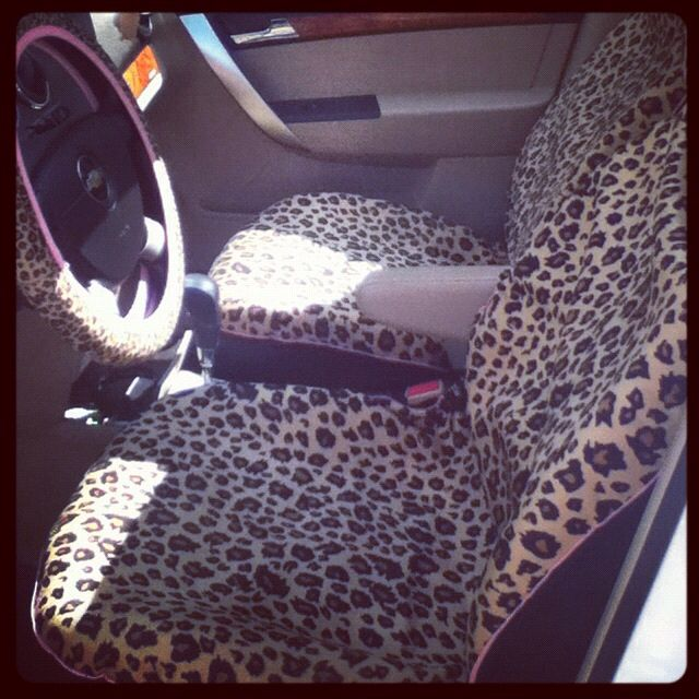 Wondrous My Leopard Print Seat Covers Cool Car Accessories Seat Short Links Chair Design For Home Short Linksinfo