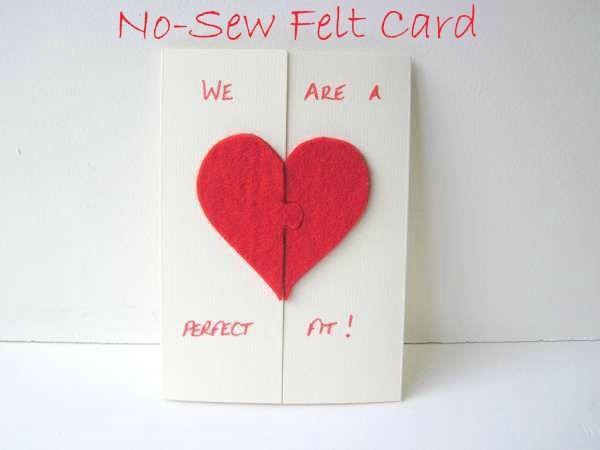 No Sew Felt Valentines Day Card Valentines – Valentines Card to Make