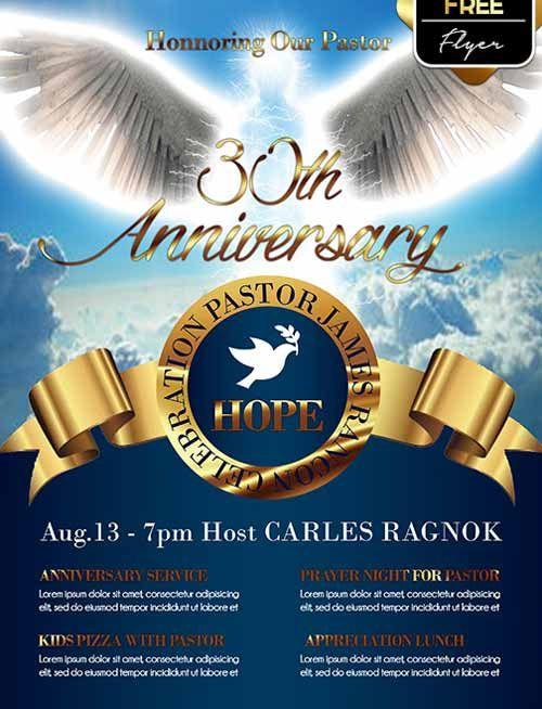 Pastor appreciation free flyer template church pinterest free flyer templates flyer for Free church flyer psd