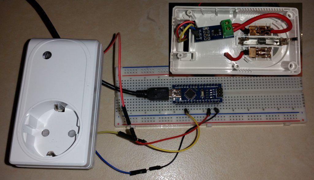 Für ein Projekt habe ich einen ACS712 Hall-Effekt Stromsensor an ...