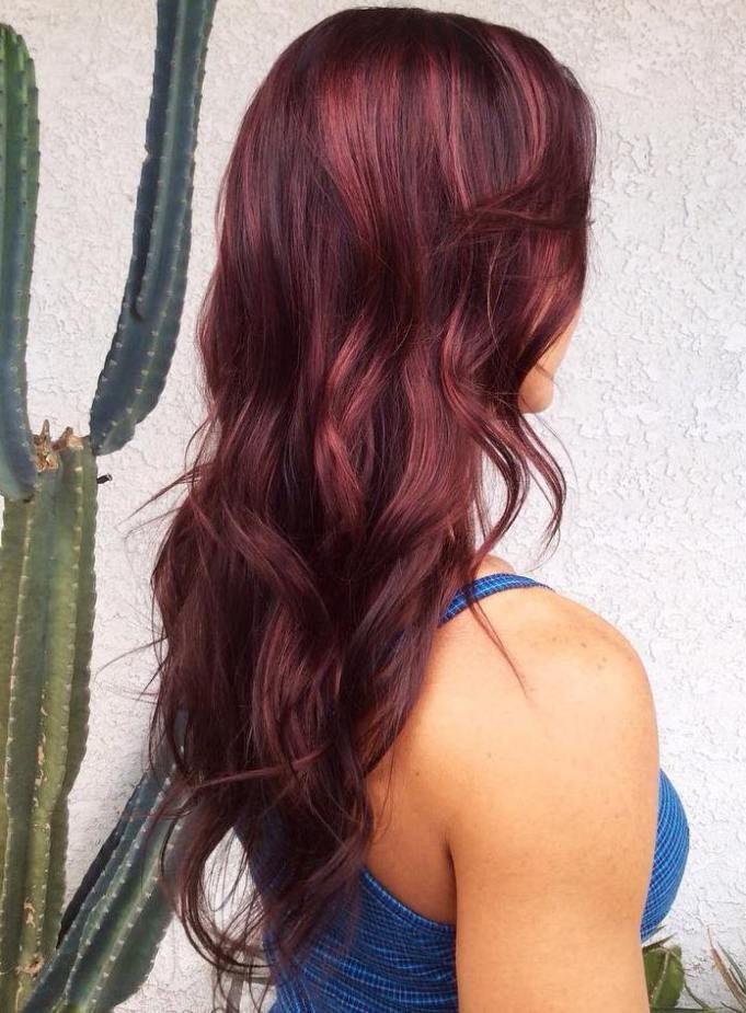 45 Shades Of Burgundy Hair Dark Burgundy Maroon Burgundy With Red
